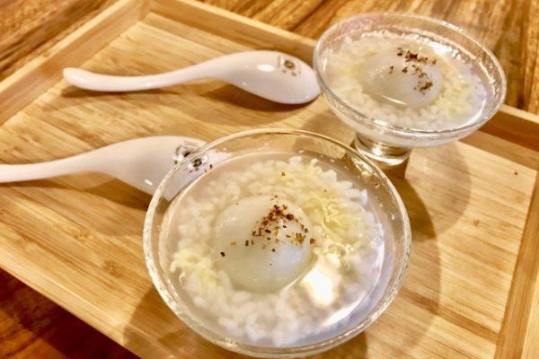 ゴマ団子の酒粕スープ