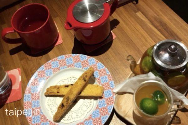 金柑茶とビスコッティ
