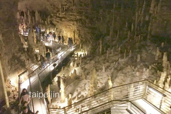 玉泉洞の鍾乳洞