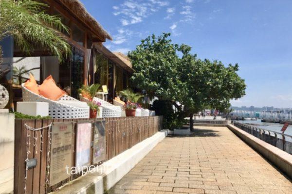 淡水榕堤水湾餐廳の外観