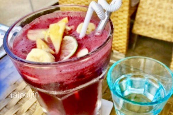 淡水榕堤水湾餐廳のベリージュース