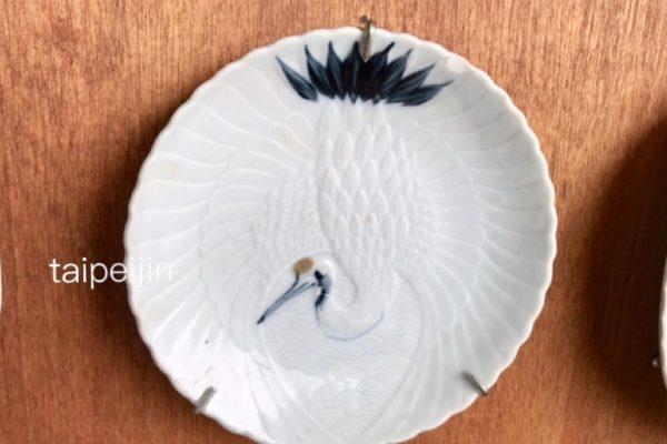 鶴の絵のお皿