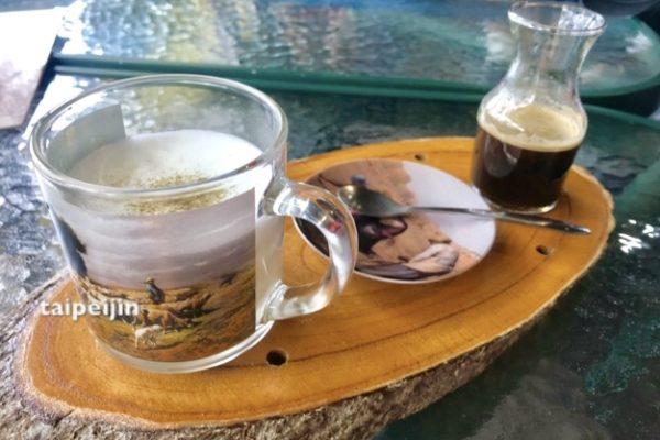 松のエキス入りコーヒー