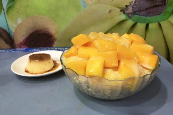 マンゴーアイスとプリン