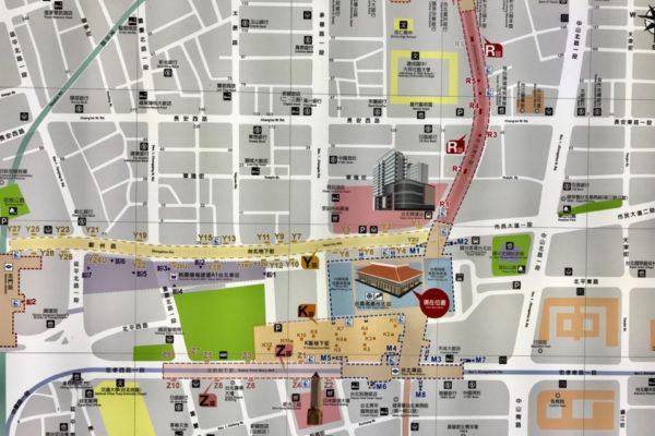 台北駅周辺の地図