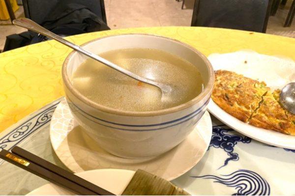 山芋と鶏肉のスープ