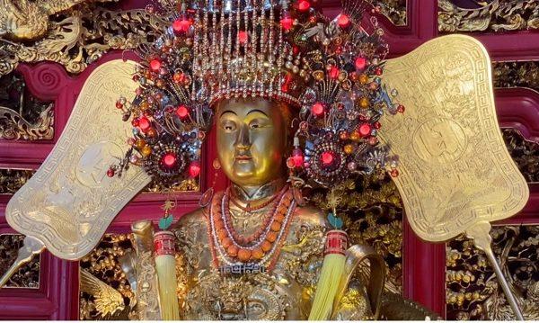 金の媽祖頭部
