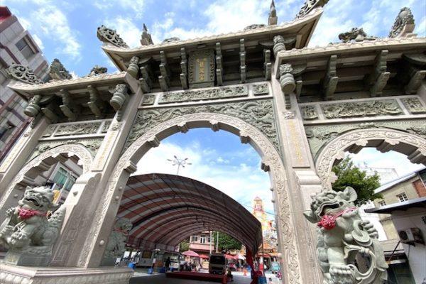 竹南后厝龍鳳宫の門