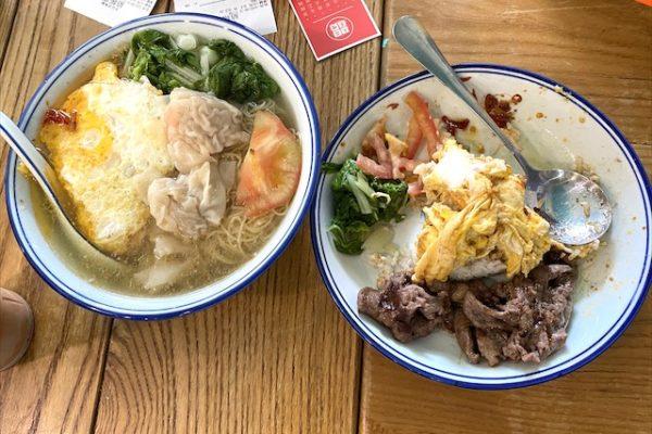 牛肉麺とワンタン麺
