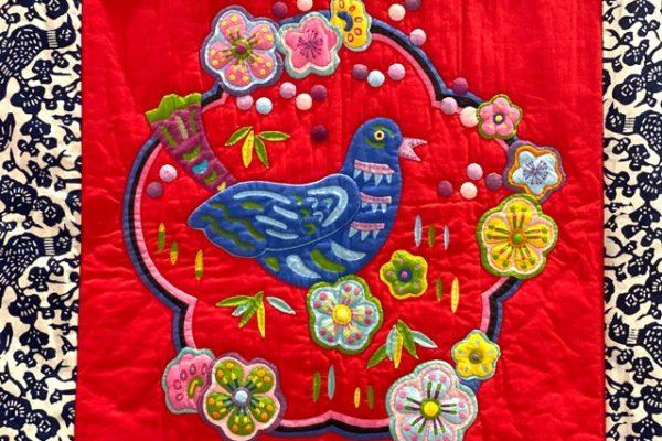 帝国製糖廠の赤い刺繍
