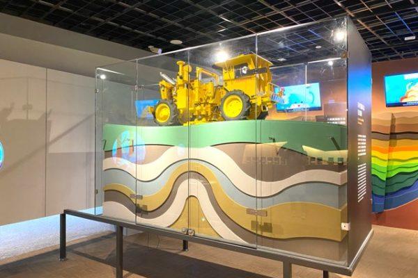台湾油鉱陳列館の石油の地層