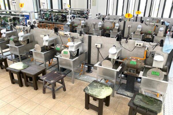 研磨の工場