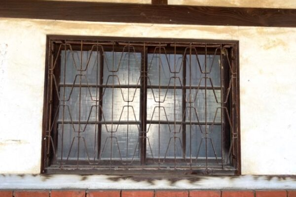 菁寮老街の古屋の窓枠